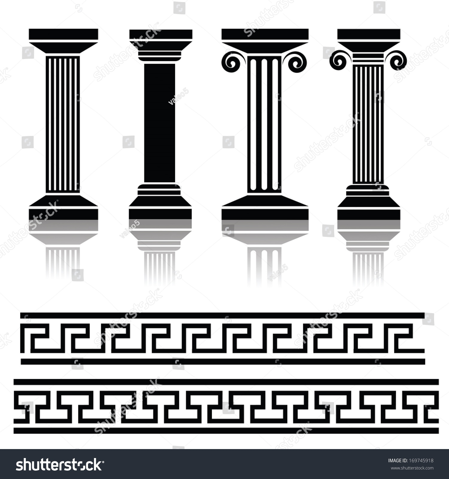 Vector illustration ancient columns your design stock for Architectural columns