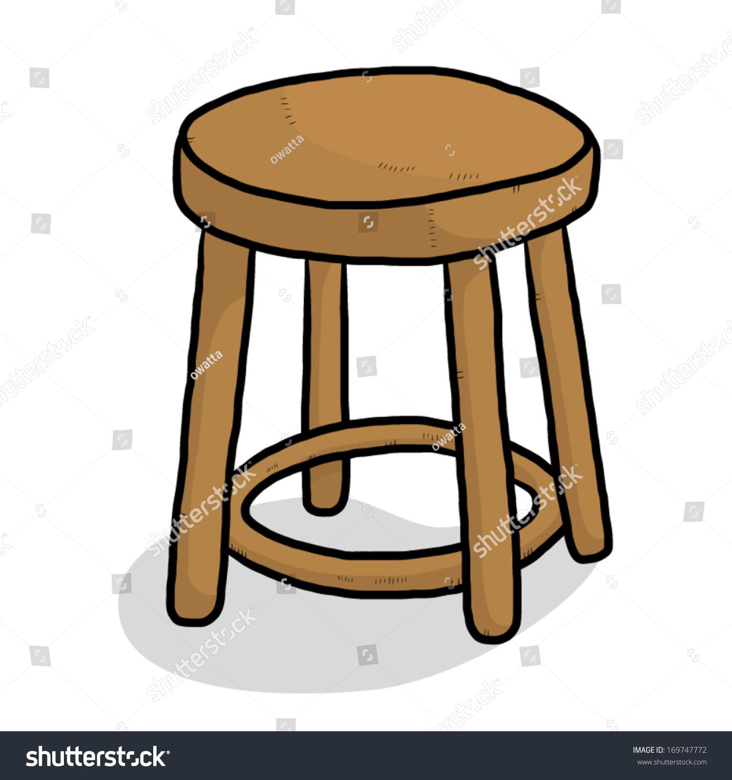 Wooden chair cartoon vector illustration isolated stock