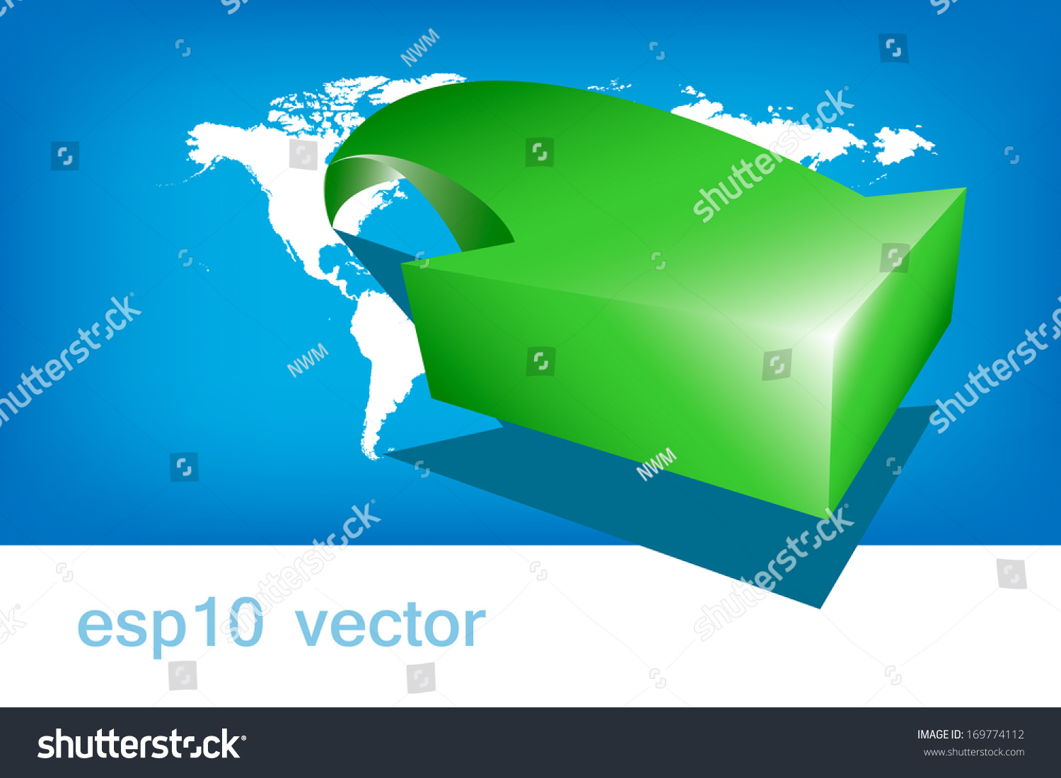 World map arrow green america stock vector 169774112 shutterstock world map arrow green america gumiabroncs Image collections