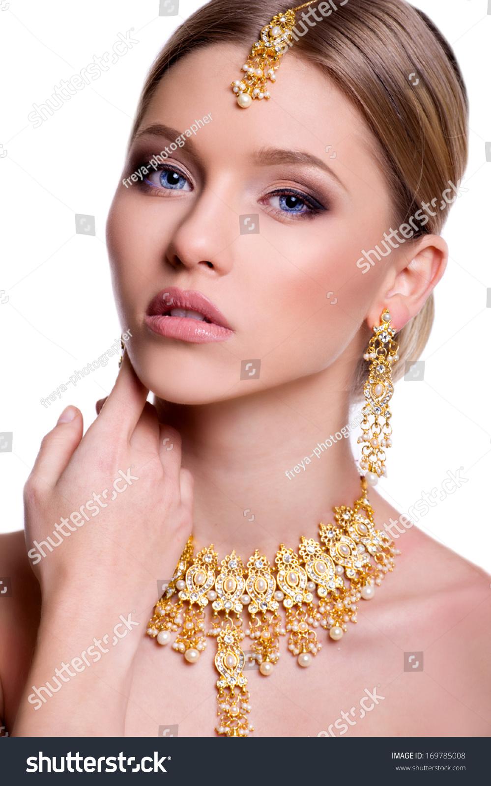 Beautiful Bride Wedding Hairstyle Make Up Stock Photo (Edit Now ...