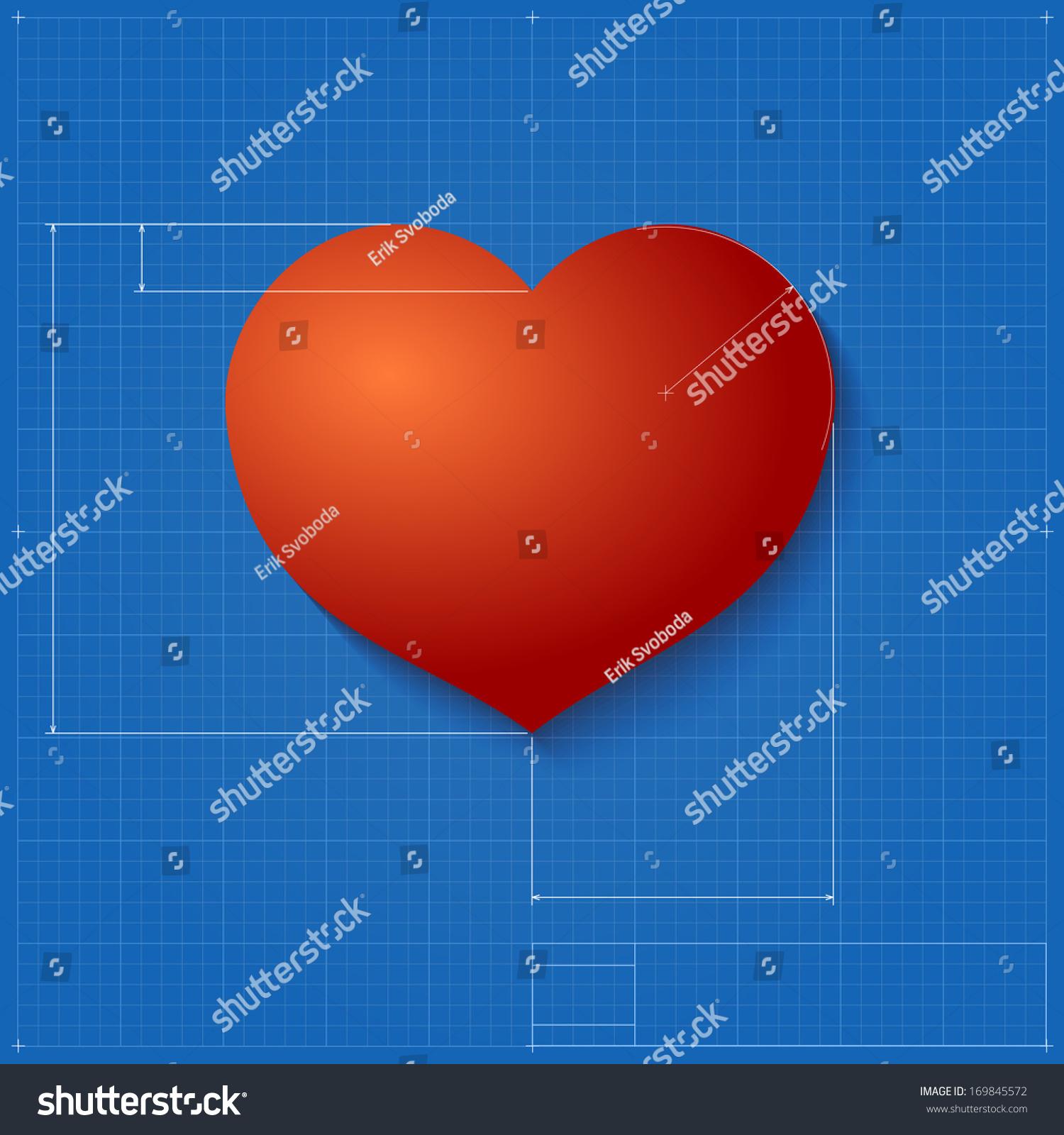Heart symbol like blueprint drawing stylized stock illustration heart symbol like blueprint drawing stylized stock illustration 169845572 shutterstock malvernweather Gallery