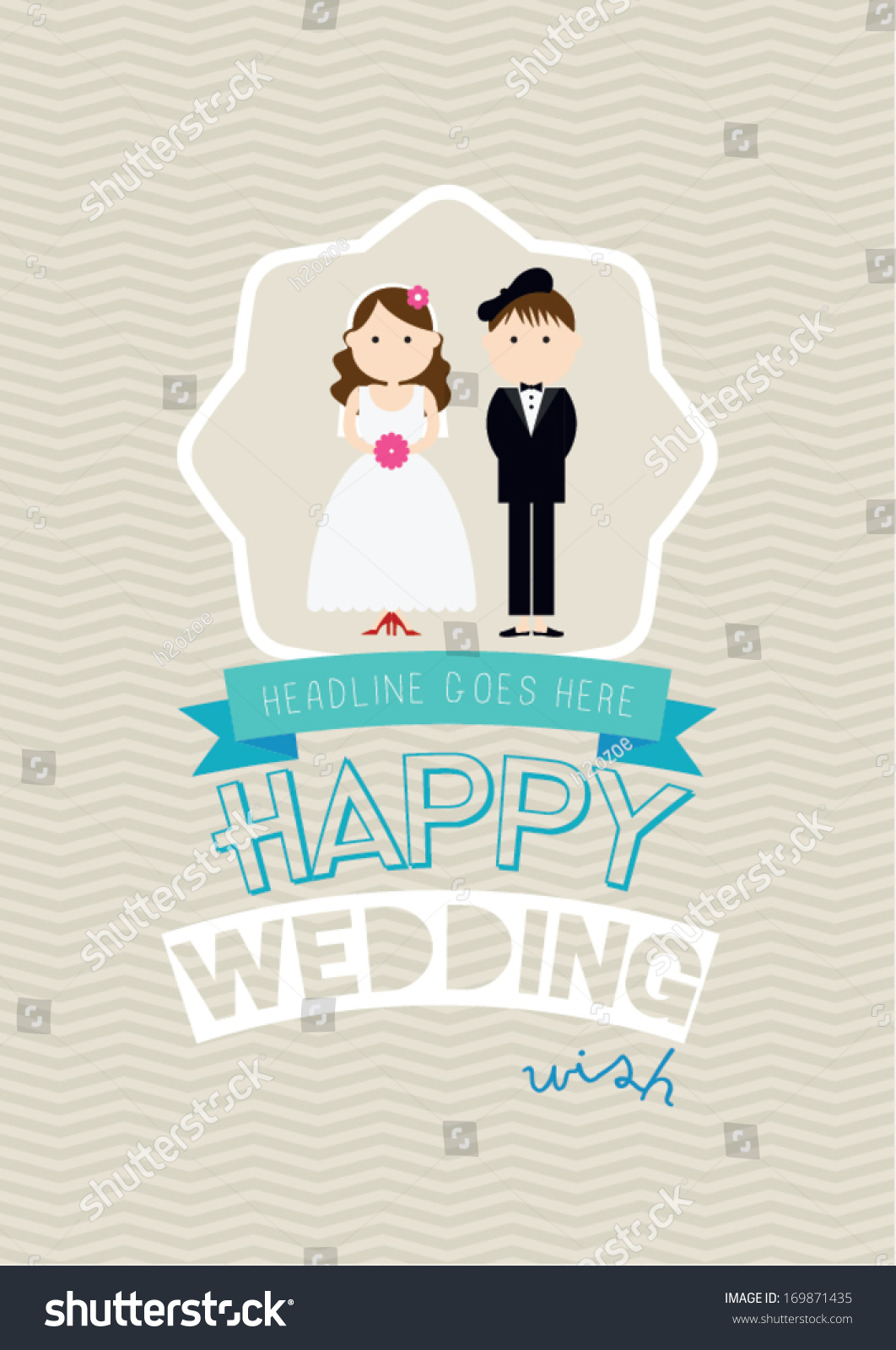 royalty free happy wedding poster template vector 169871435 stock