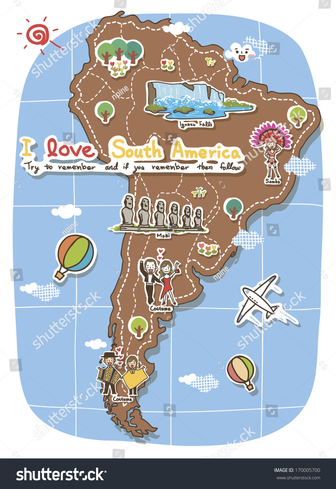 Map South America Depicting Tourist Destinations – South America Travel Map