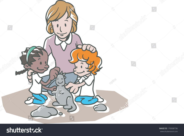 Adult cartoon child