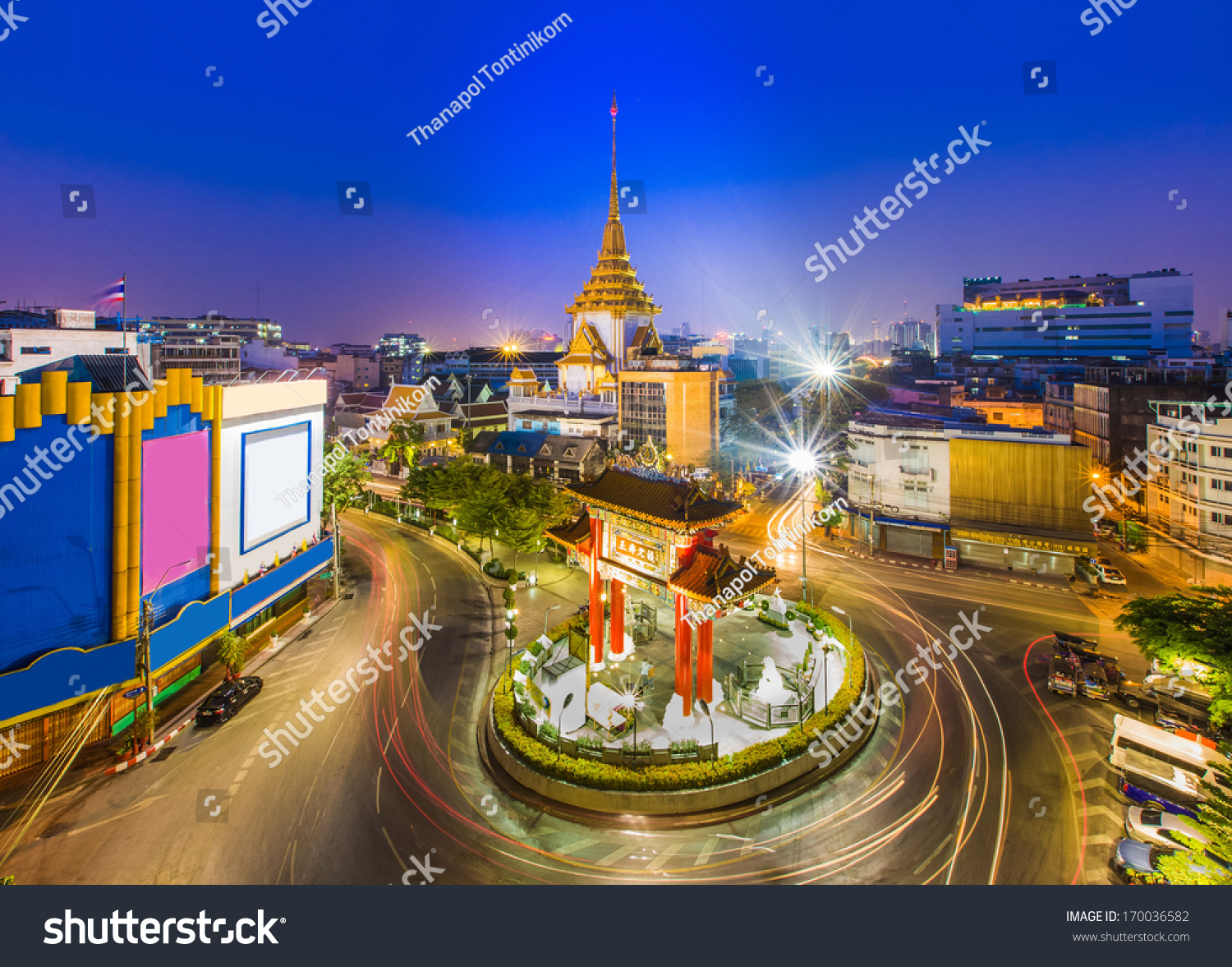 The Gateway Arch (Odeon Circle) And Golden Buddha Temple ...