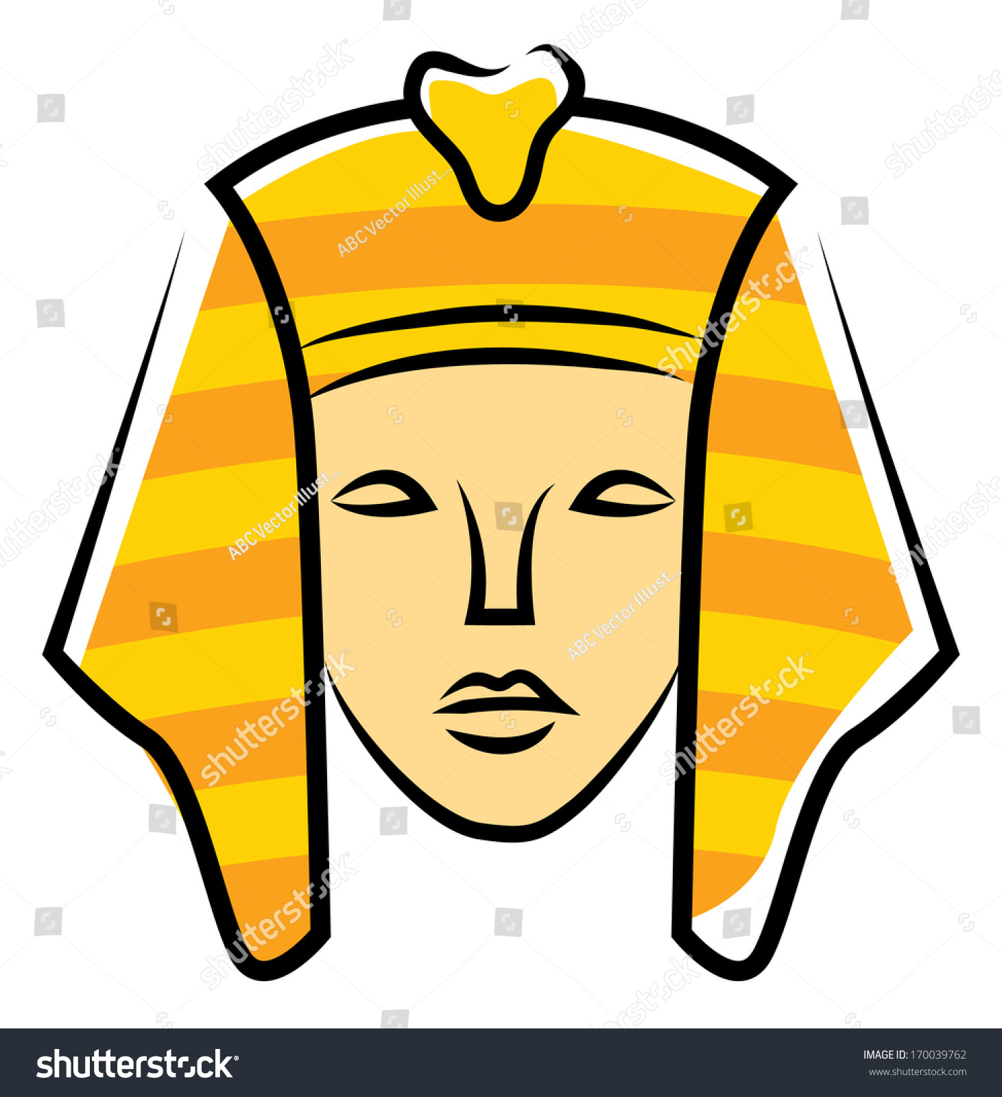 Illustration Of A Cute Sphinx Smiling Contentedly Stock Photo ...