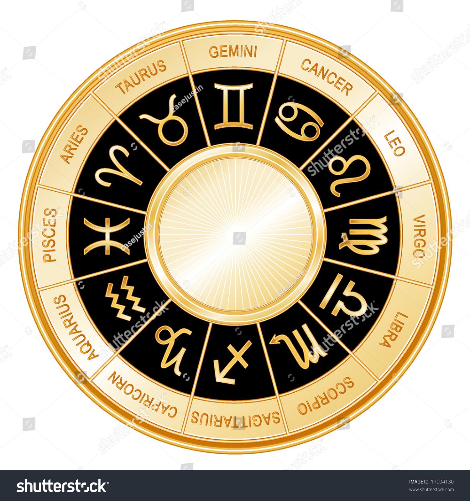 horoscope wheel 12 astrological signs zodiac stock illustration 17004130 shutterstock. Black Bedroom Furniture Sets. Home Design Ideas