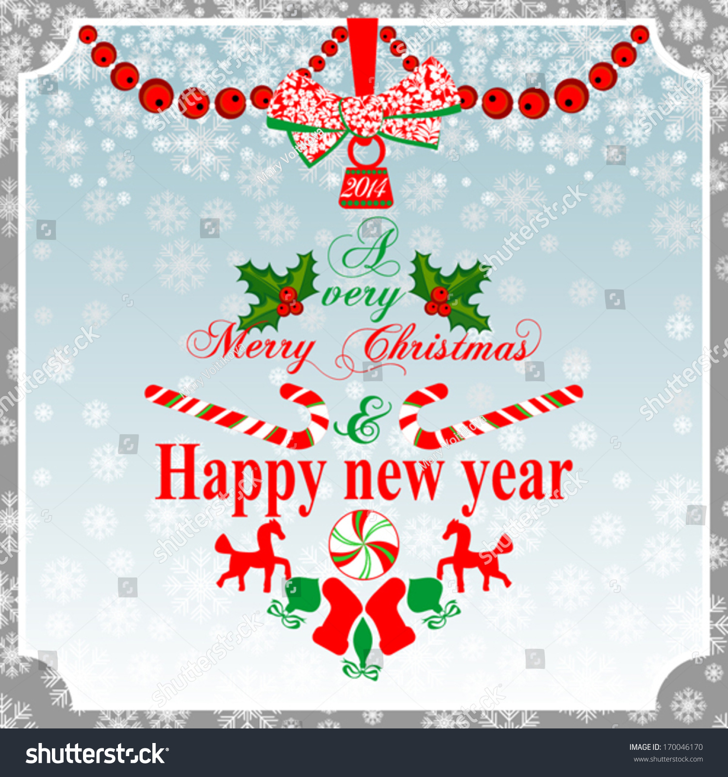 Christmas greeting card vintage card christmas stock vector royalty christmas greeting card vintage card with christmas ball vector illustration m4hsunfo