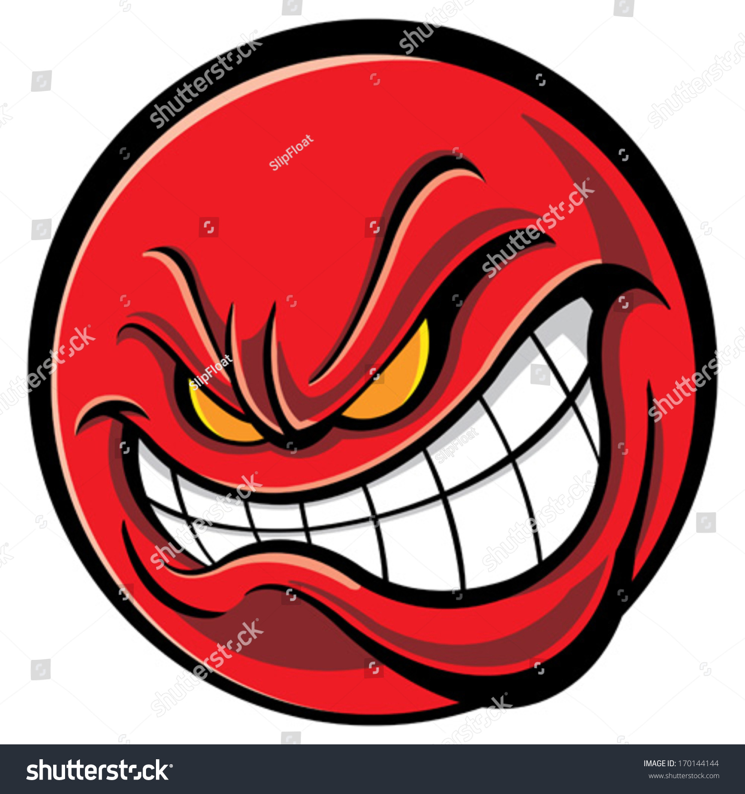 Angry Face Stock Vector 170144144 - Shutterstock