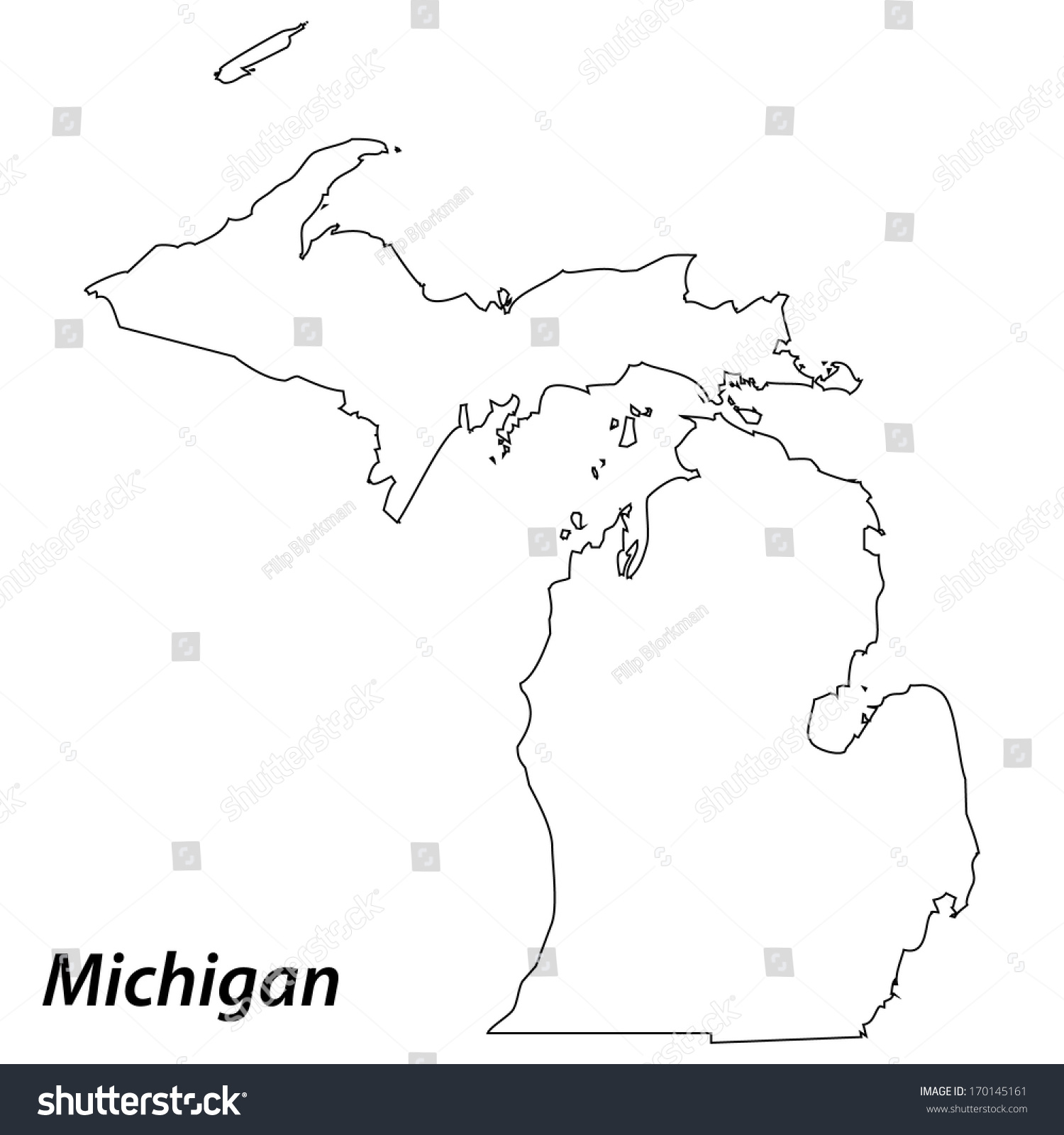 Michigan City Map Gulf Of Finland Map - Michigan on a us map