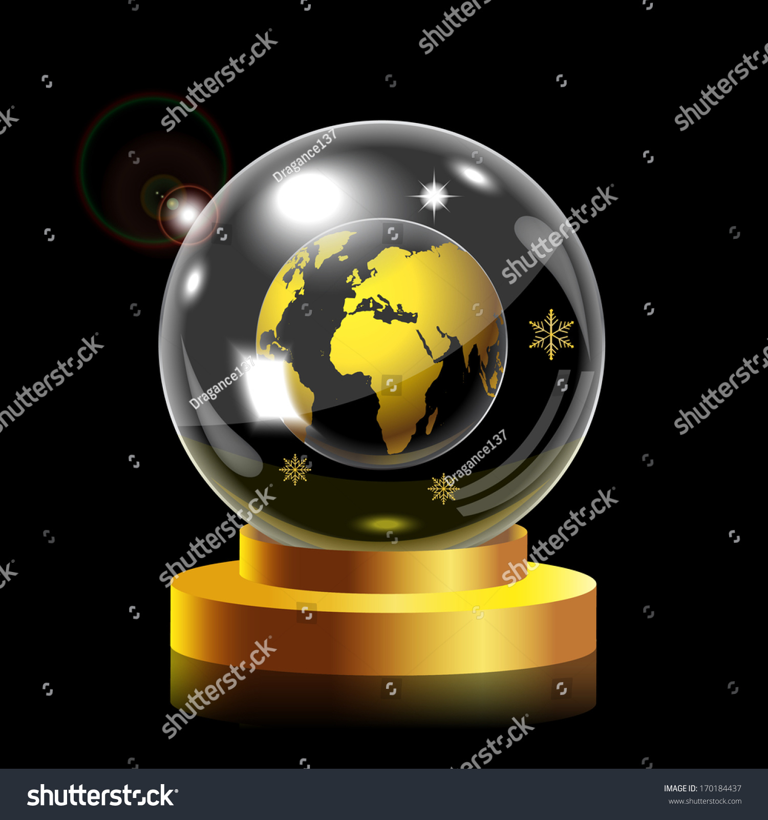 Snow globe world map stock vector 170184437 shutterstock snow globe with world map gumiabroncs Images