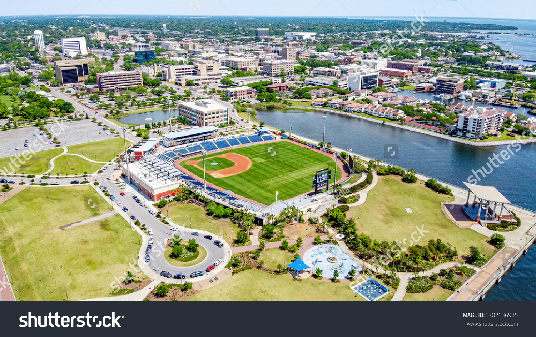 Downtown Pensacola, Florida. Blue Wahoos #1702136935