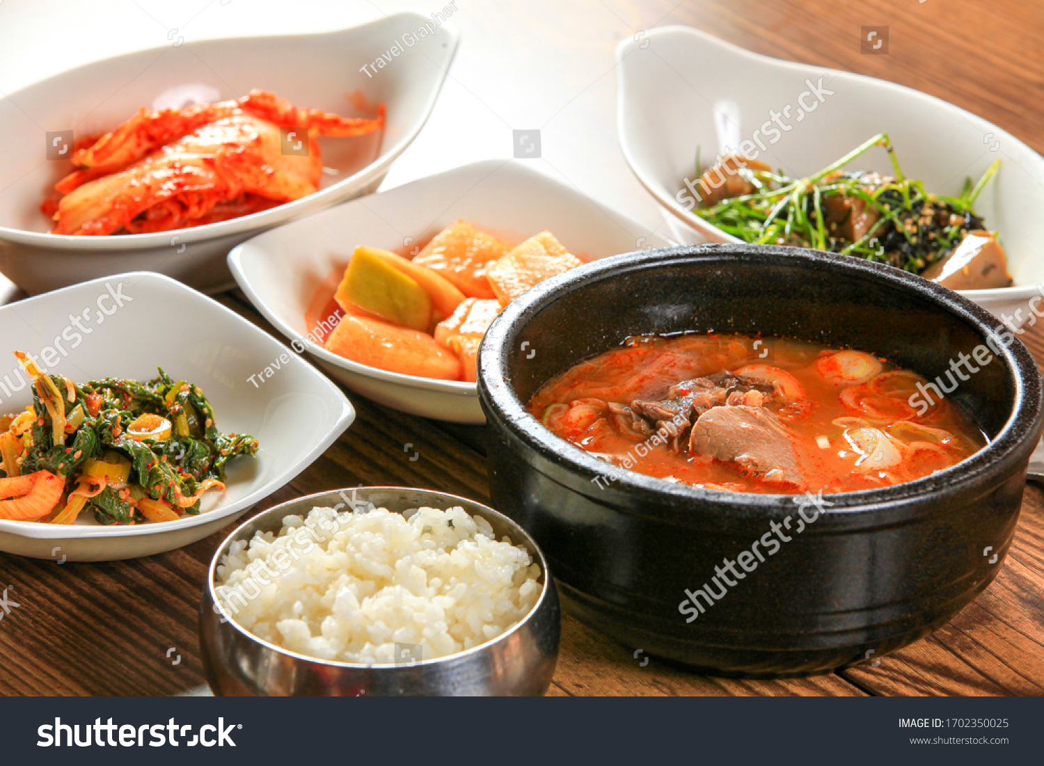 Korean food - Beef and rice soup #1702350025