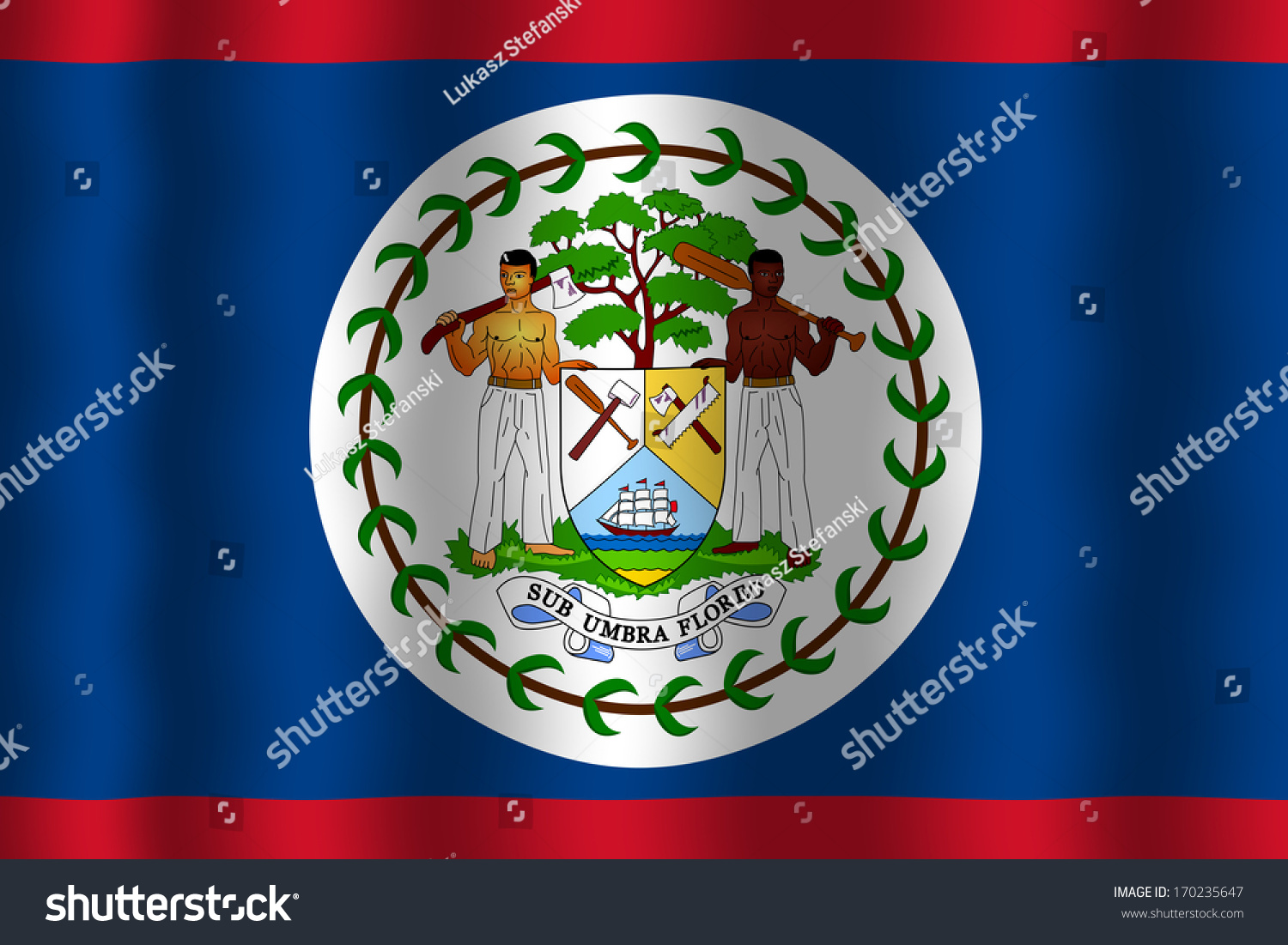 Waving belize flag stock illustration 170235647 shutterstock waving belize flag biocorpaavc Image collections