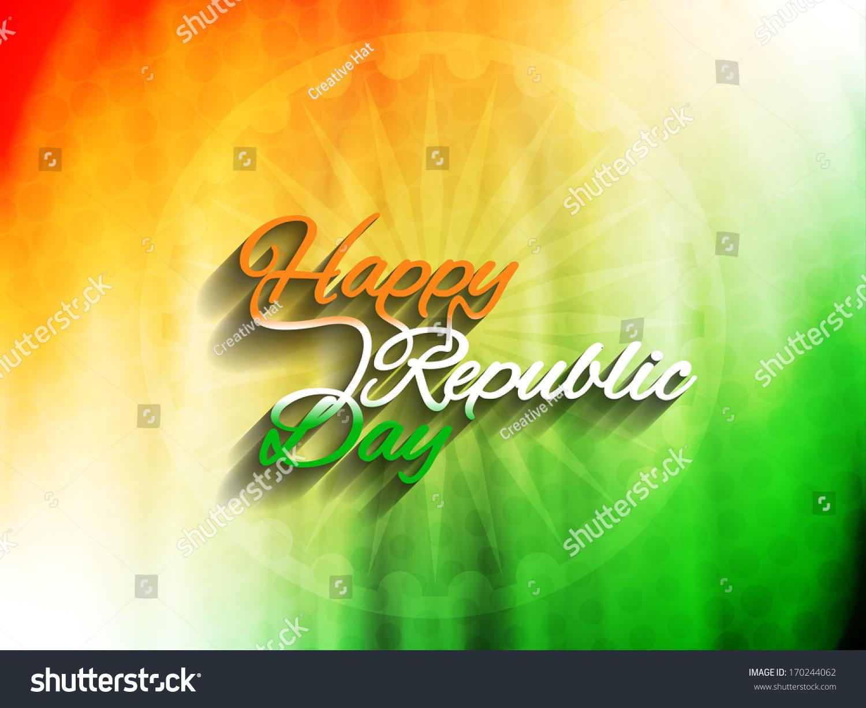 Indian Flag Theme: Elegant Indian Flag Theme Background With Beautiful Text