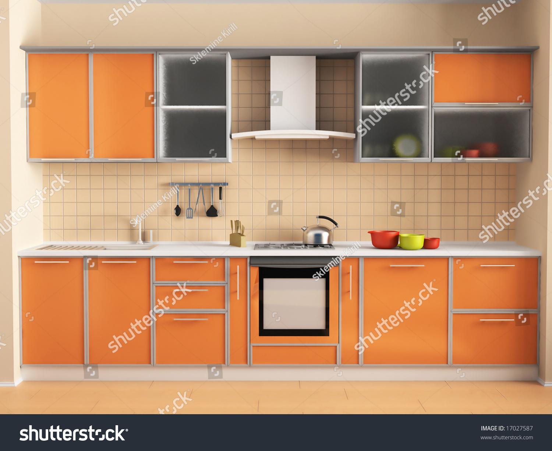 Peach Kitchen Kitchen Peach Stock Illustration 17027587 Shutterstock