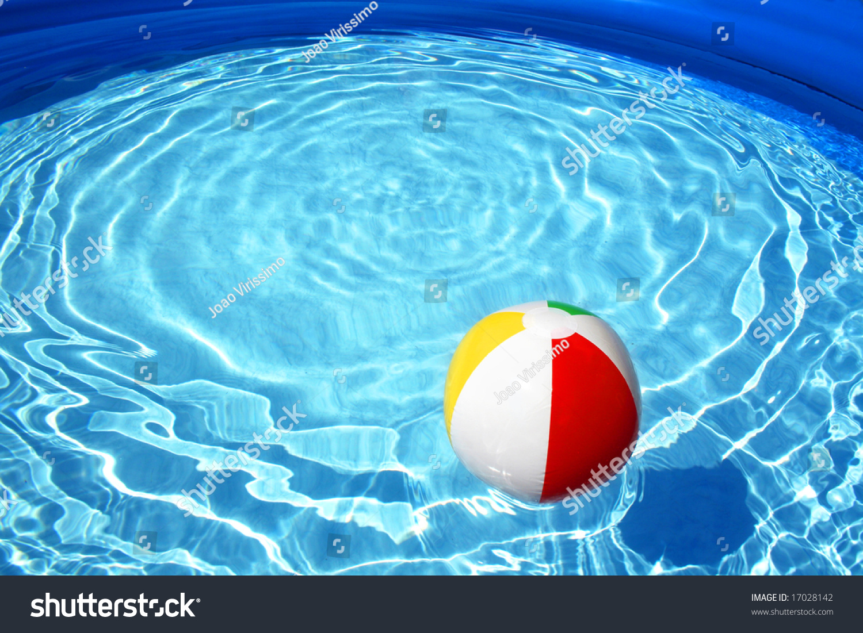 Swimming Pool Beach Ball Stock Photo Shutterstock