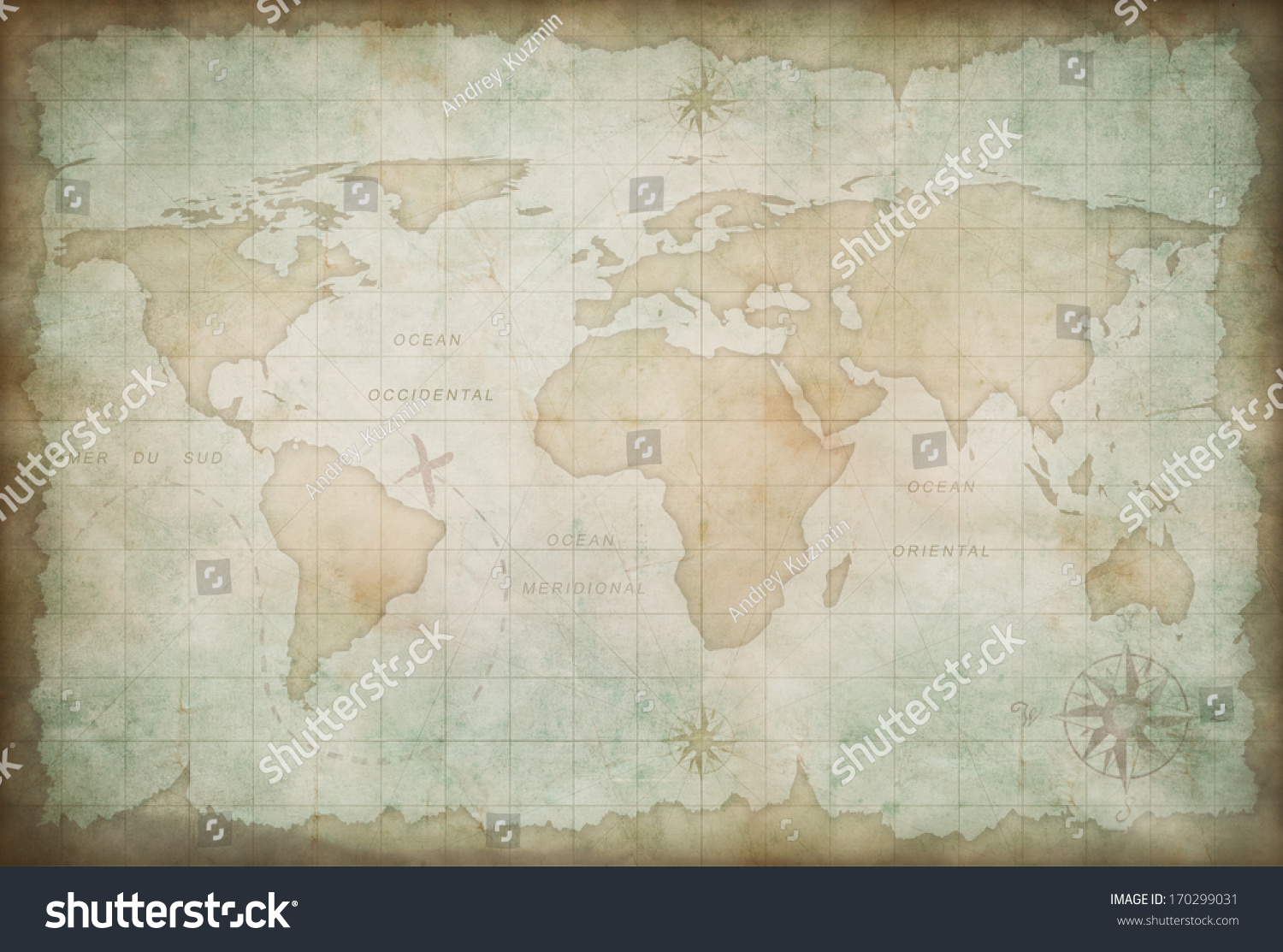 Royalty free old world map background 170299031 stock photo old world map background 170299031 gumiabroncs Gallery