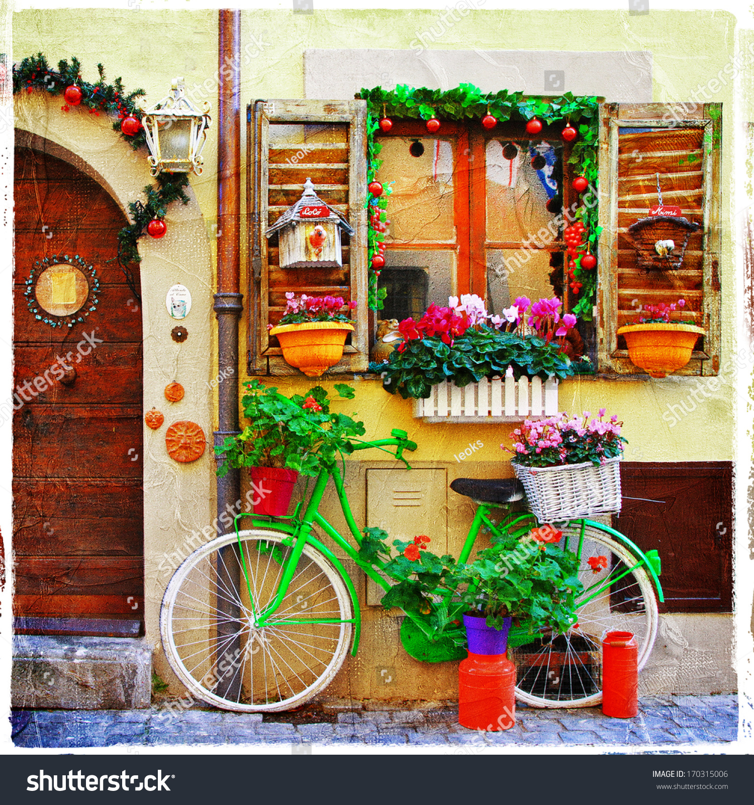 Pretty Streets Small Italian Villages Stock Photo