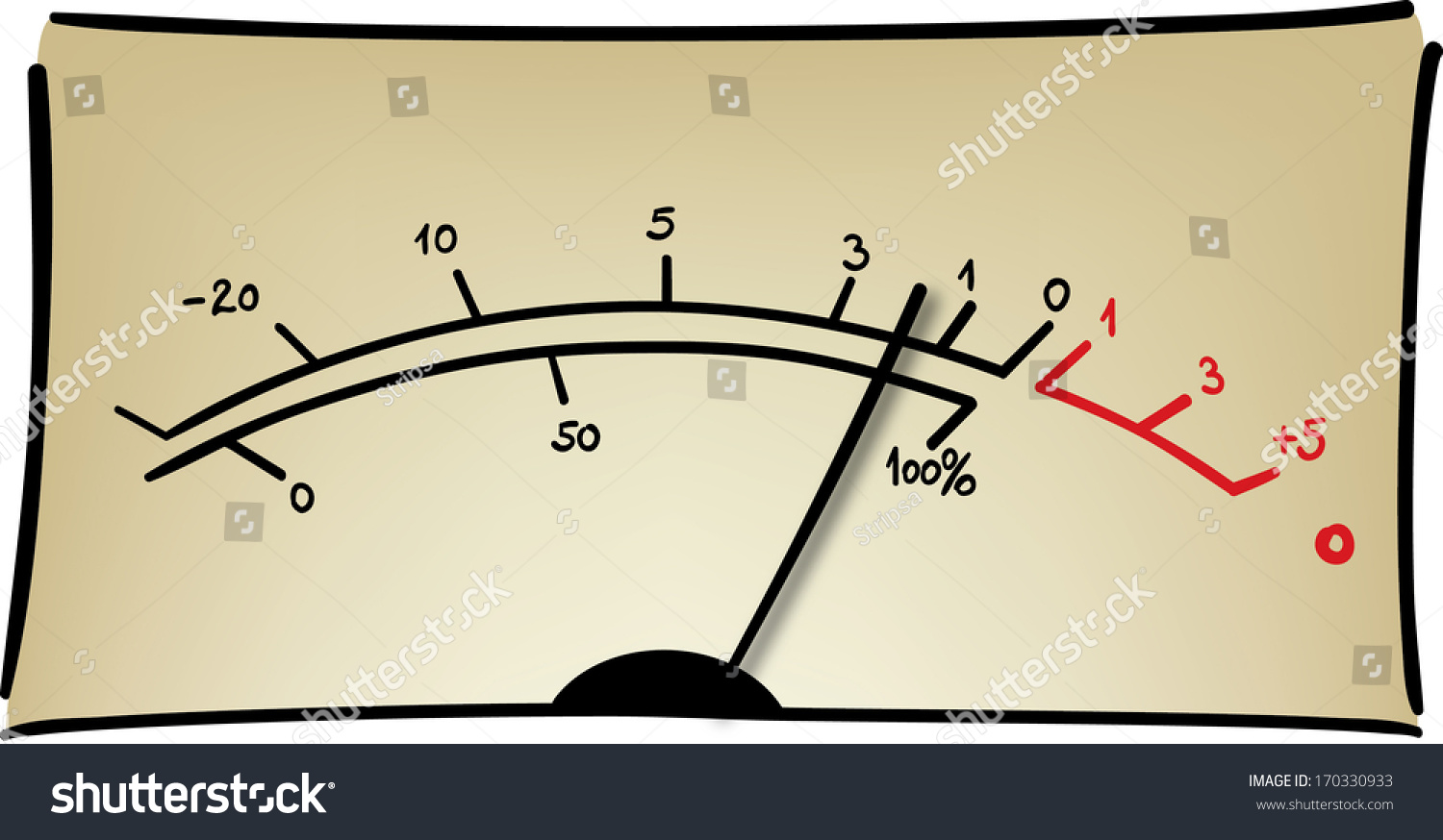 Analog Meter Needle : Analog measuring device with the needle in motion audio