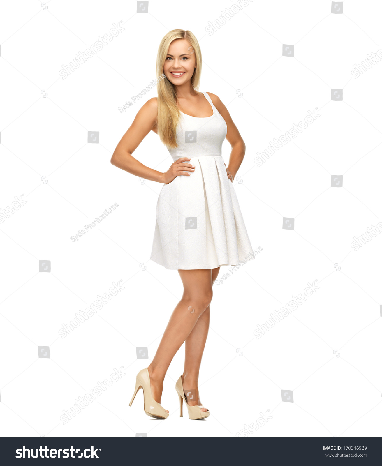 White Dress With White Heels