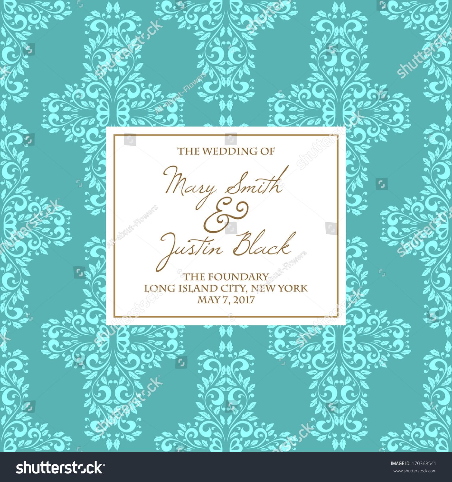 Wedding Card Stock Vector Shutterstock