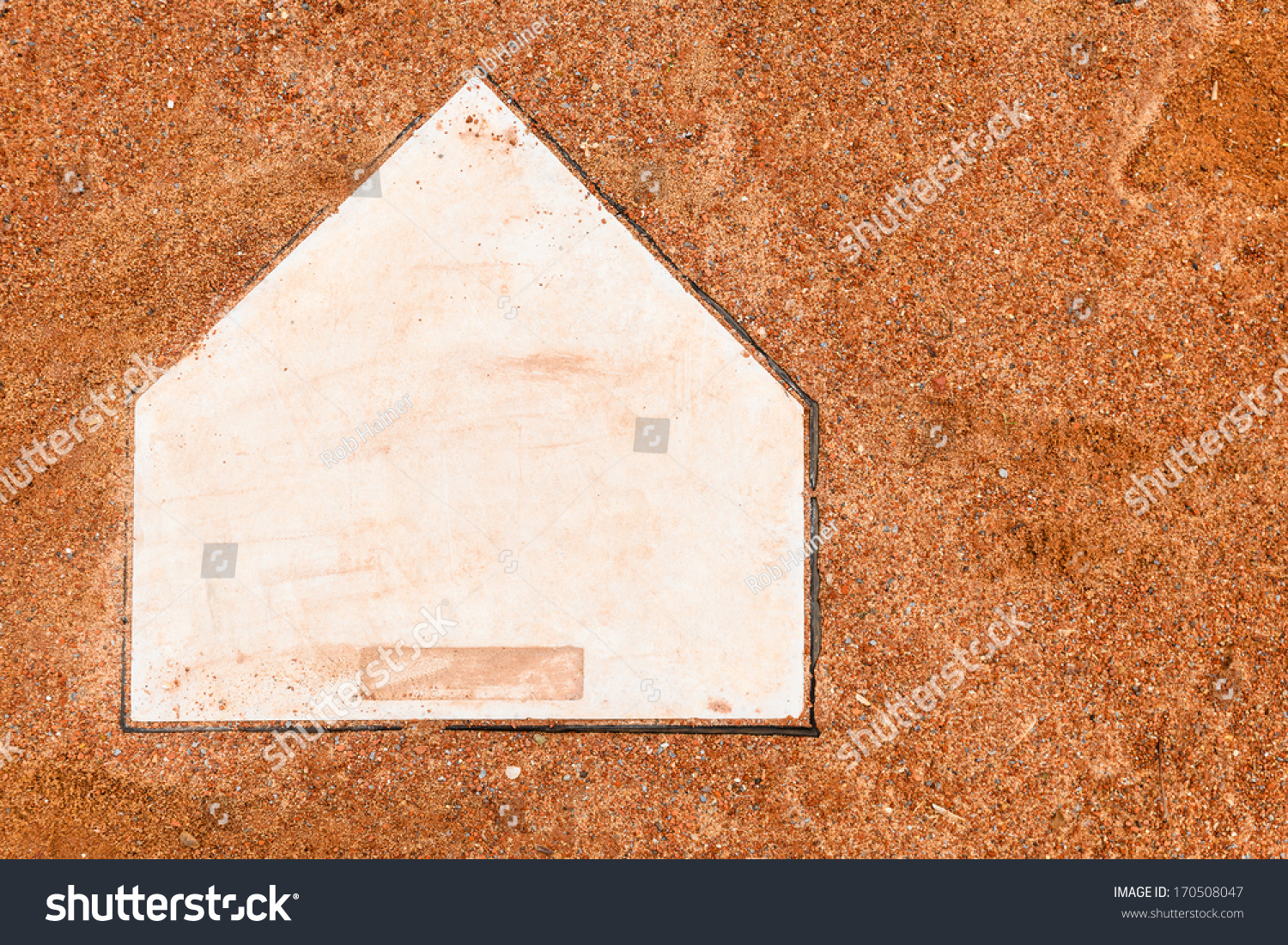 Home Plate On A Baseball Field With Room For Copy