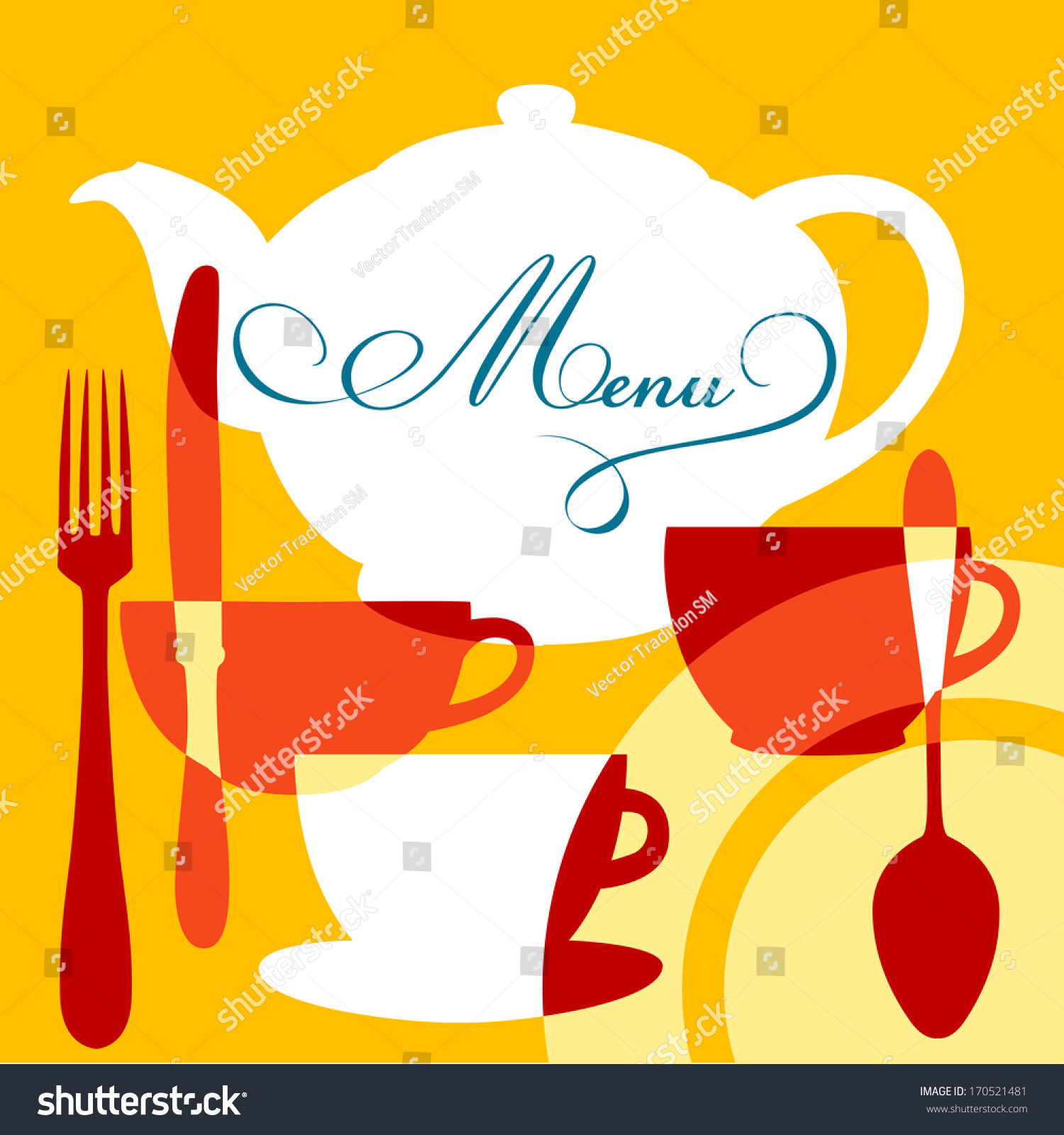restaurant cafe menu cover design vector stock illustration
