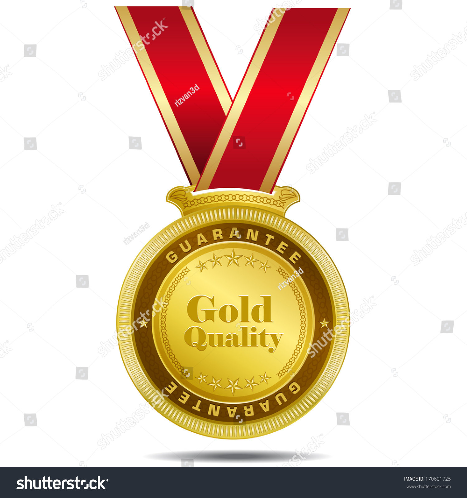 flat idea medal vector cartoon rosette stock quality label blank by award isolated white icon badge illustration gold or of golden on vladwel depositphotos best emblem