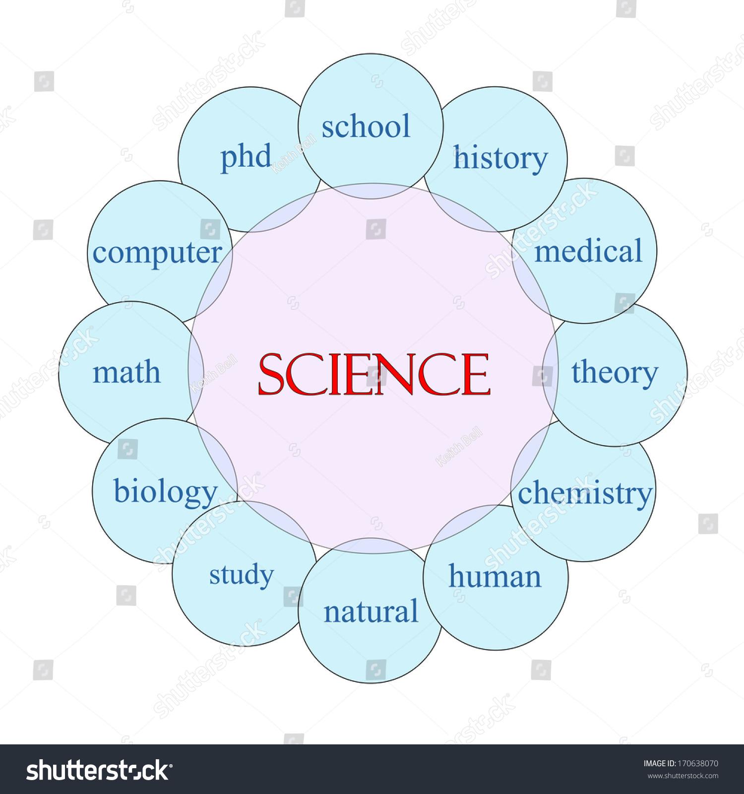 Science Concept Circular Diagram Pink Blue Stock Illustration ...