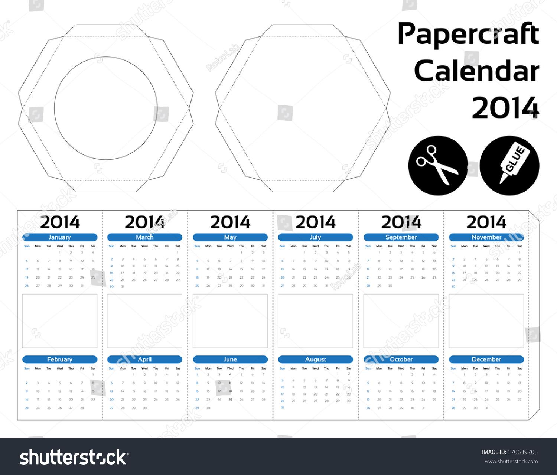 Papercraft hexagon calendar 2014 do yourself stock vector 170639705 papercraft hexagon calendar 2014 do it yourself solutioingenieria Images