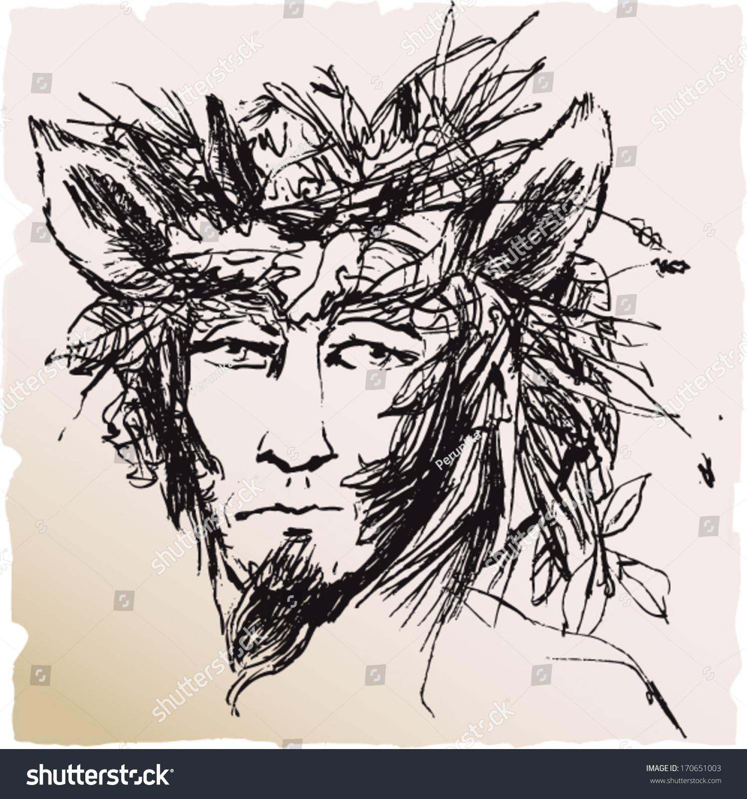 Greek mythology god pan faun sketch stock vector 170651003 greek mythology god pan faun sketch style illustration on paper buycottarizona