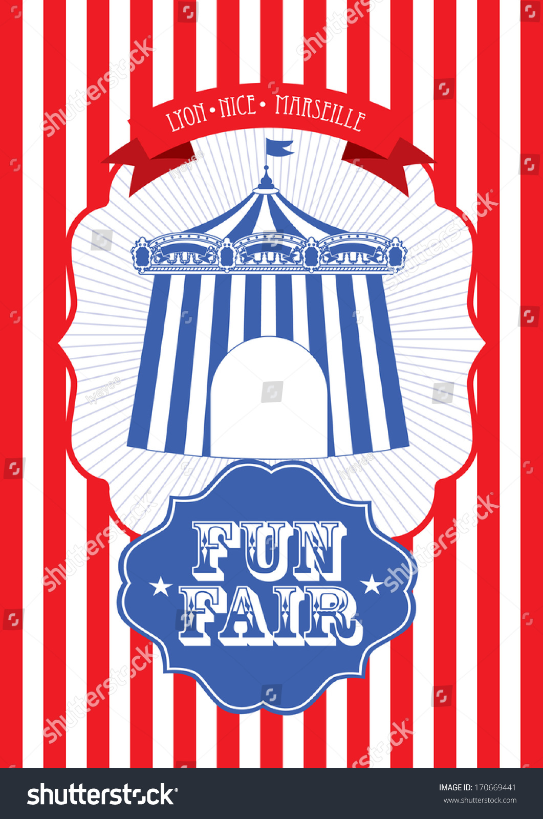 vintage circusfun fair fairground tent fun stock vector