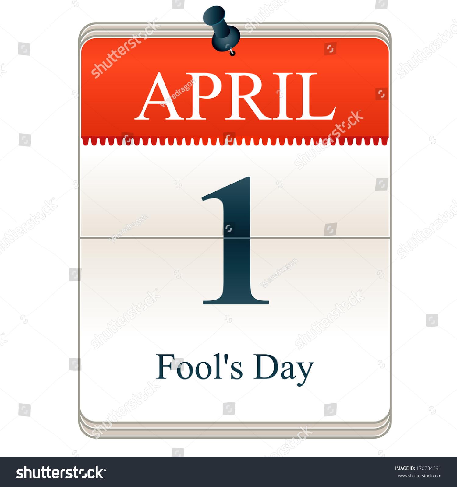 Calendar April Fools : Vector calendar fools day st april stock