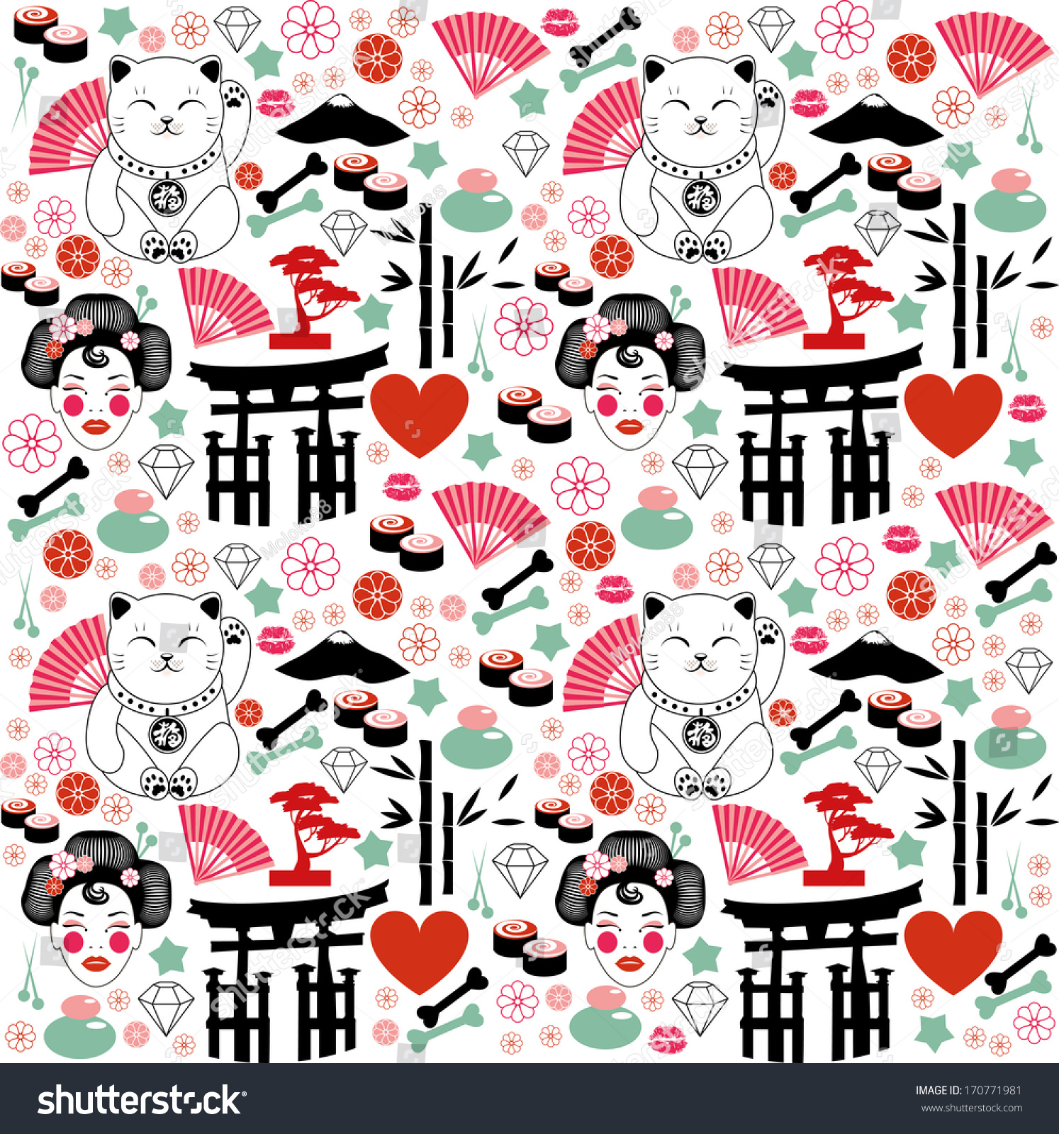 Japan Pattern Stock Vector 170771981 - Shutterstock