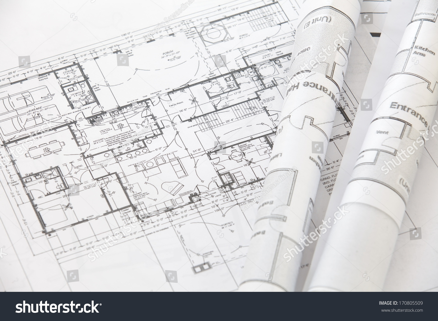 Architect Rolls And Plans Architectural Plan Technical