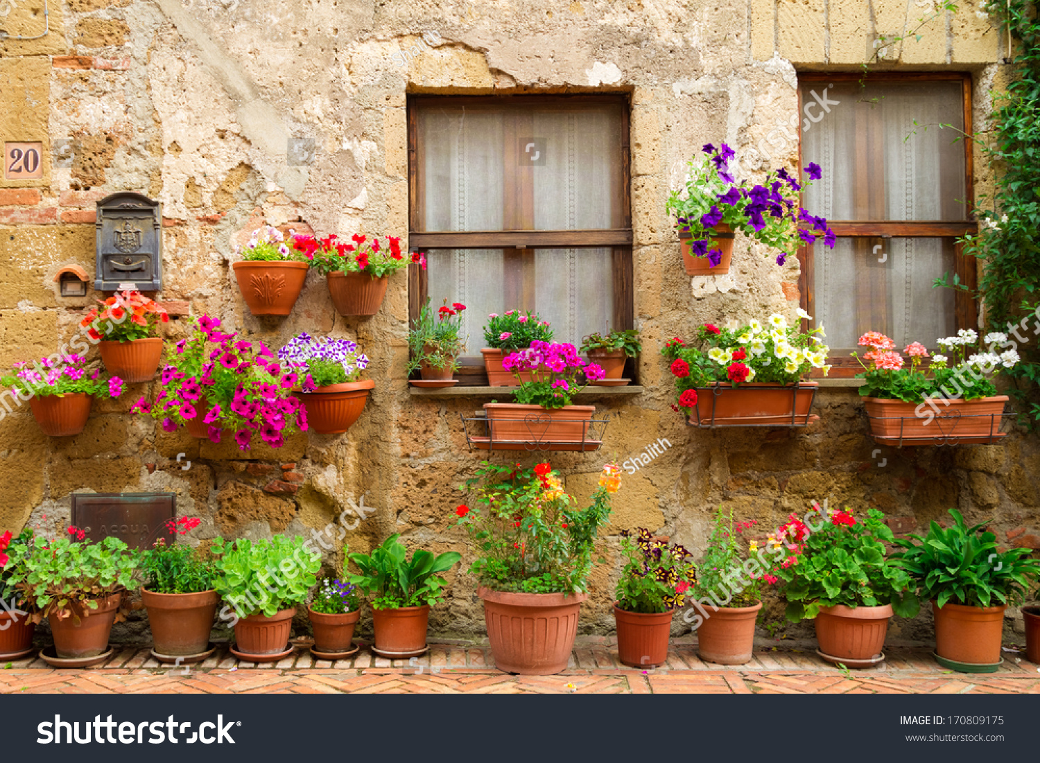 Beautiful Street Decorated Flowers Italy Stock Shutterstock