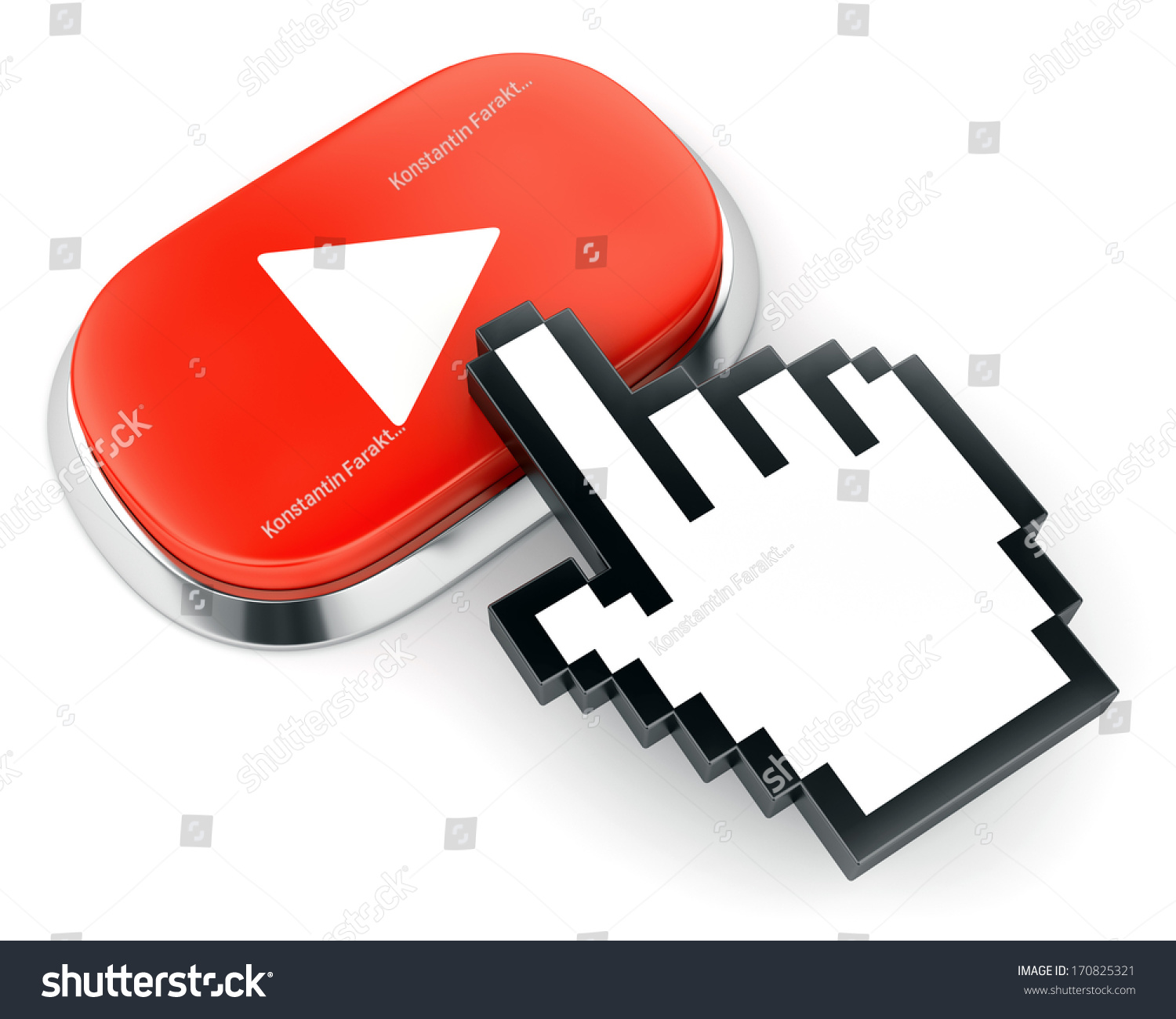 Red Button Web Video Play Symbol Stock Illustration 170825321