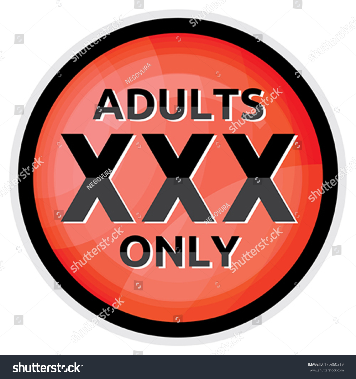 xxx icon - adults only