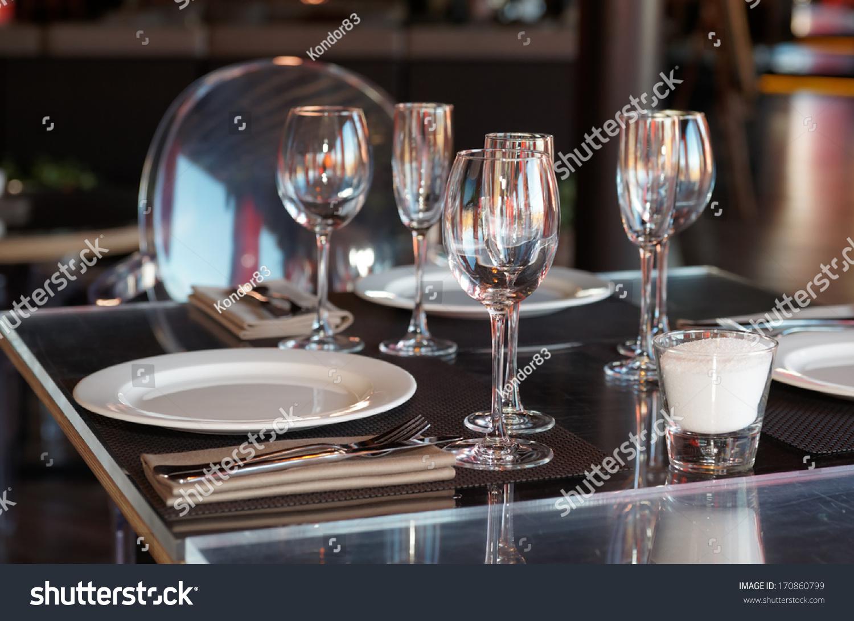 & Table Setting Restaurant Stock Photo 170860799 - Shutterstock