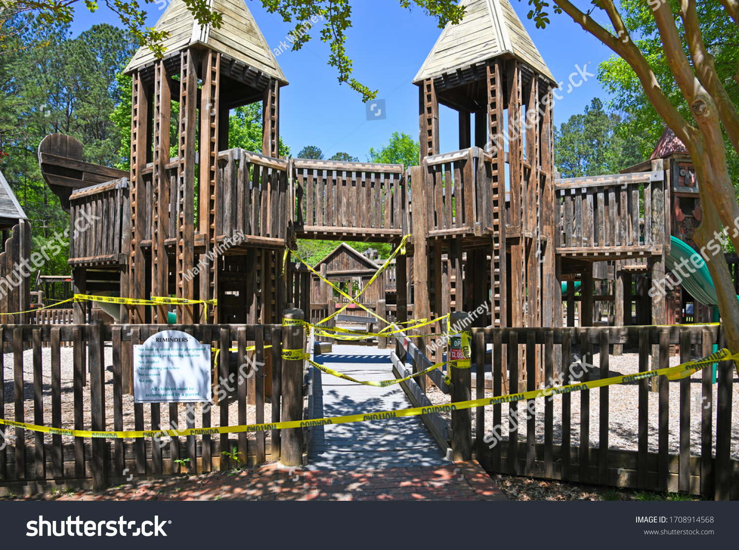 stock-photo-empty-playgound-closed-due-t