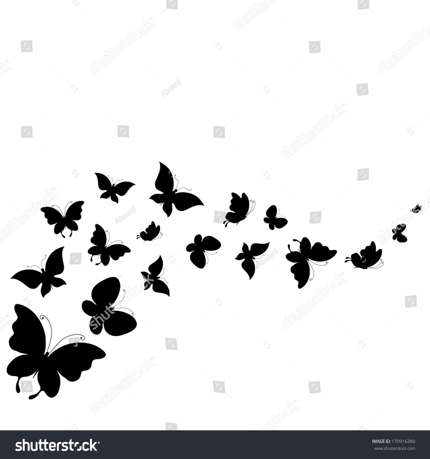 butterflies design stock vector 170916380 shutterstock. Black Bedroom Furniture Sets. Home Design Ideas