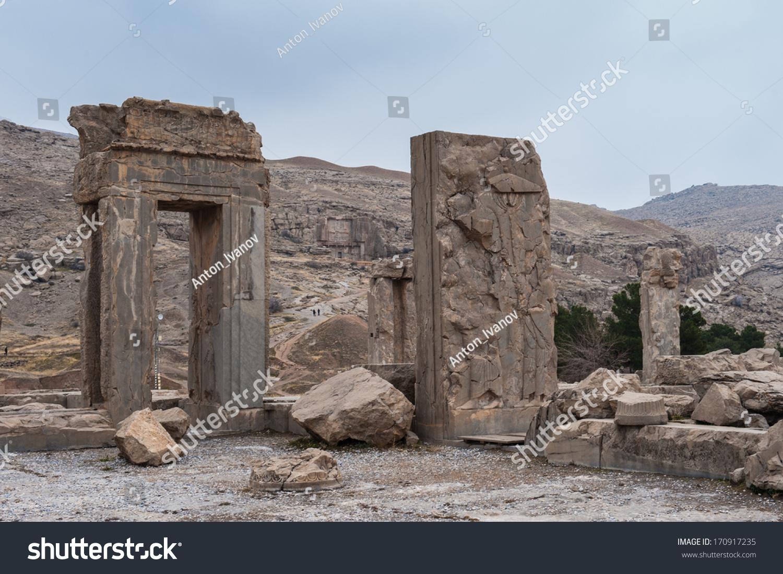 Ancient City Persepolis Iran Apadana Xerxes Stock Photo Edit Now 170917235