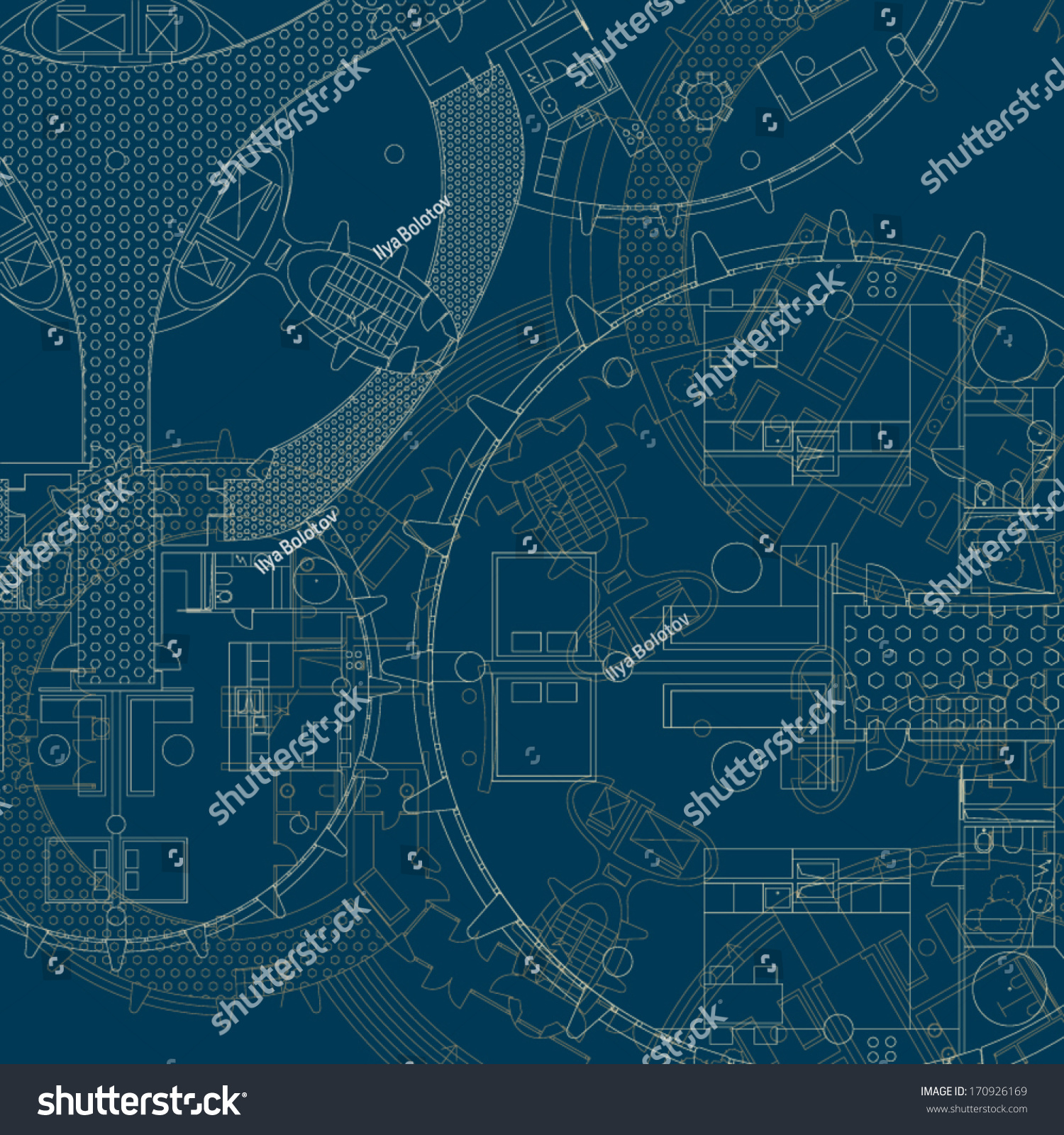 Architectural blueprint vector drawings stock vector 170926169 architectural blueprint vector drawings malvernweather Images
