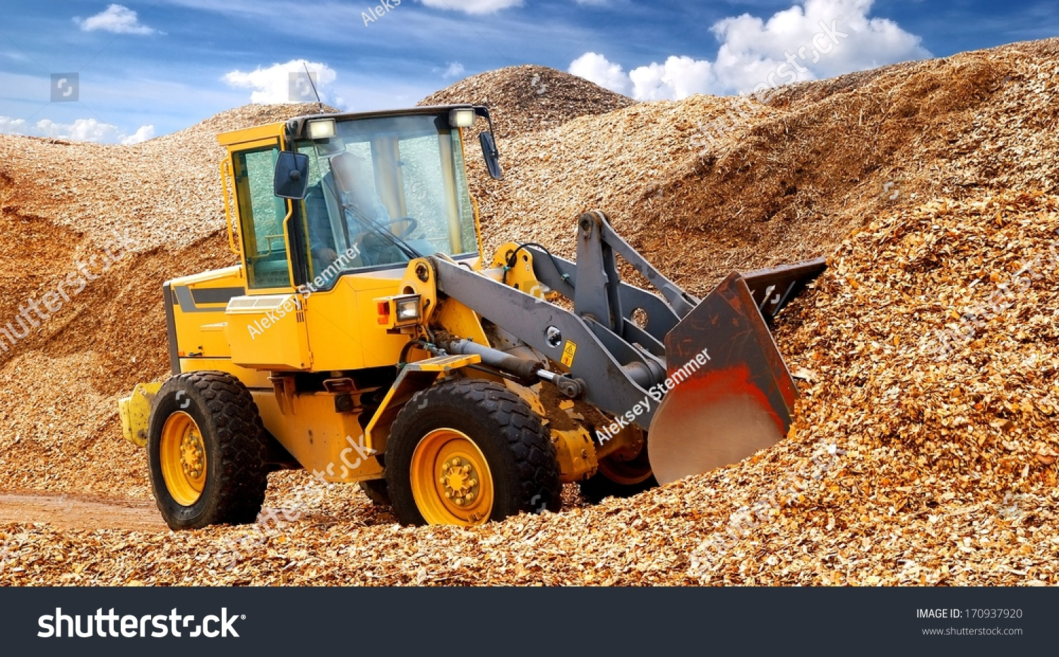 Working In Sawdust ~ Bulldozer working sawdust stock photo shutterstock