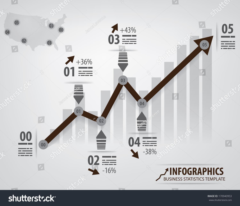 Business Infochart Template Arrow Different Steps Stock Vector ...