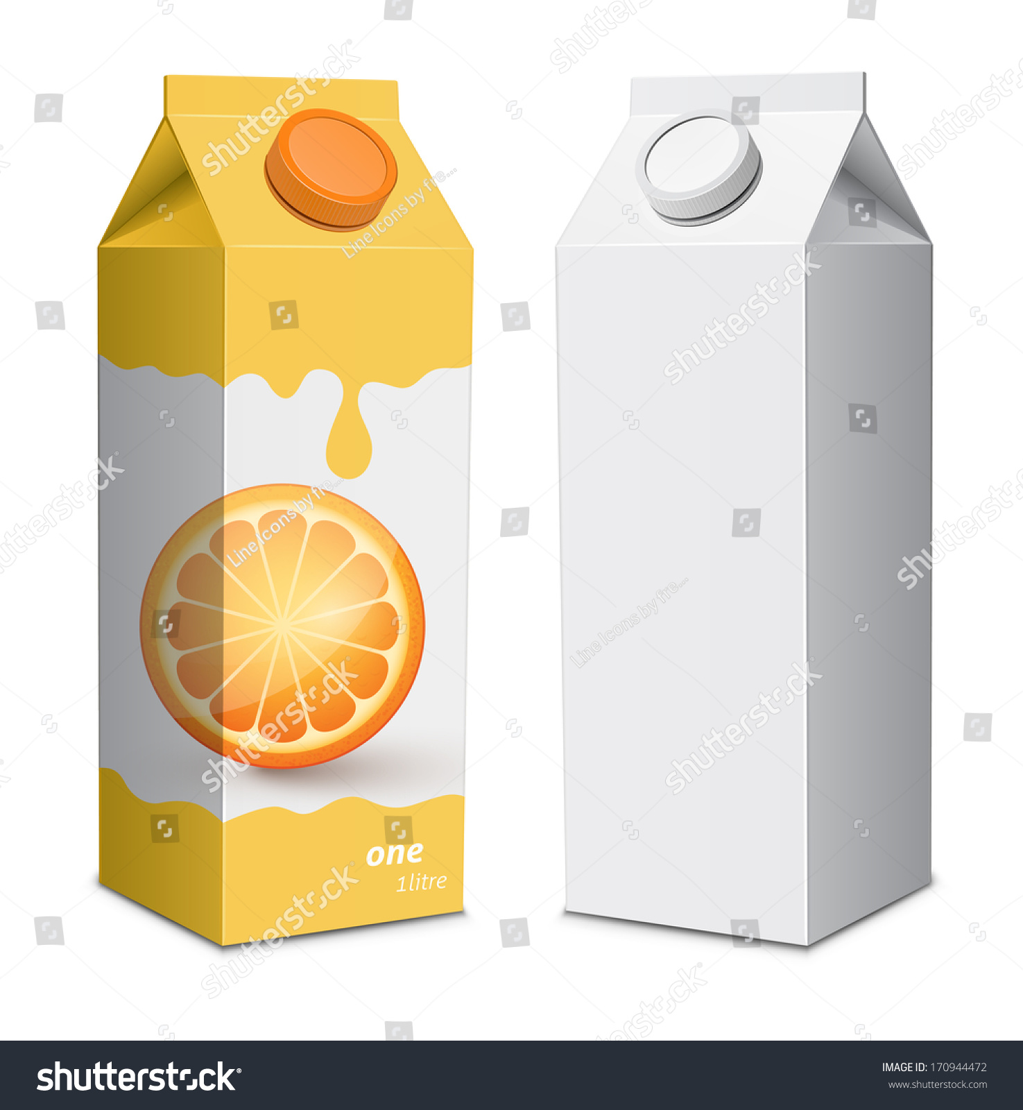 Juice Box Template Juice Cartons Screw Stock Vector ...