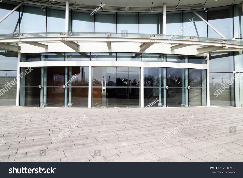 Facade Modern Business Center Glass Doors Stock Photo Edit Now