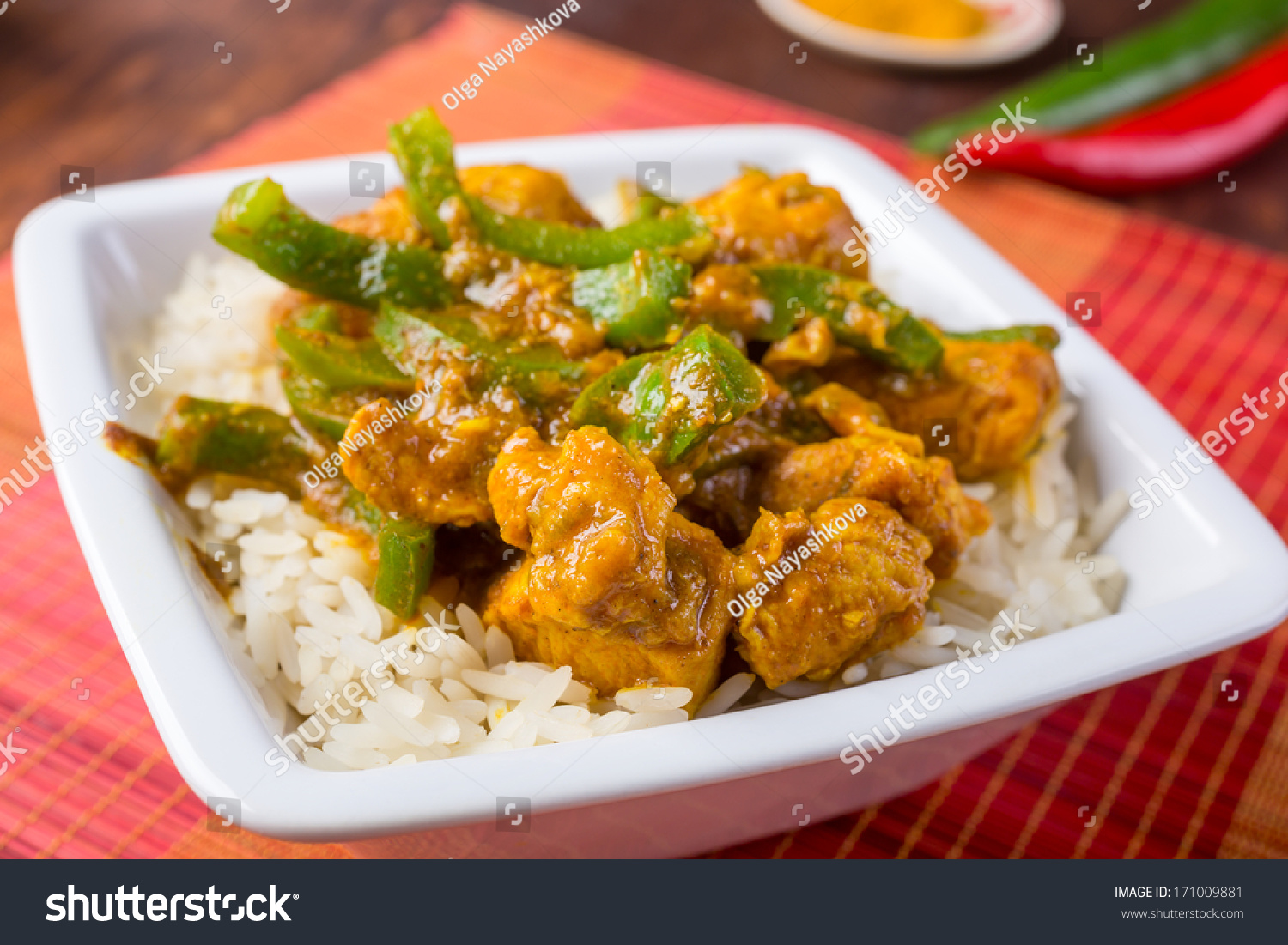 Chicken Jalfrezi Spicy Indian Pakistani Curry Stock Photo Edit Now 171009881