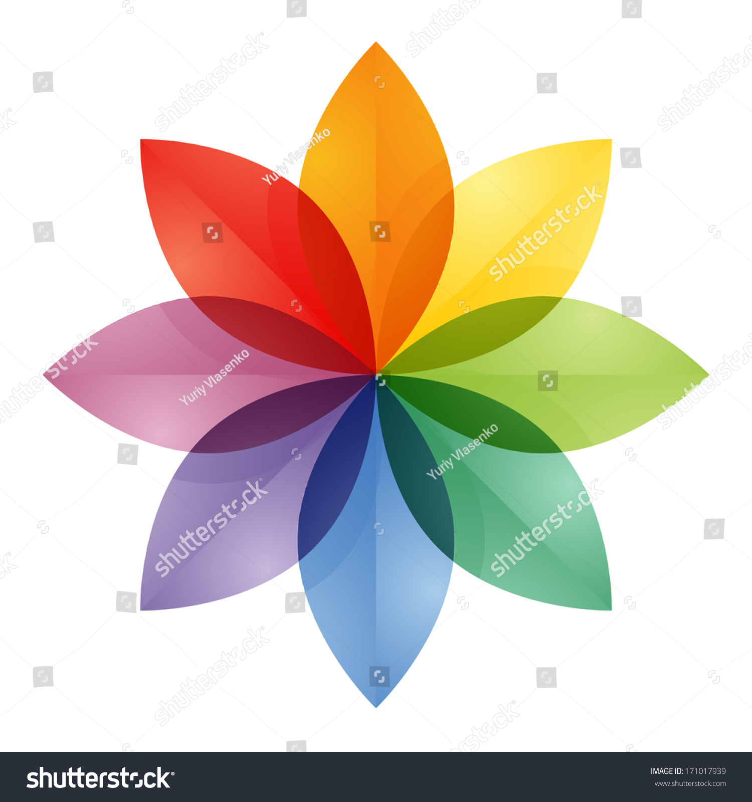 Color Wheel Flower Stock Illustration 171017939